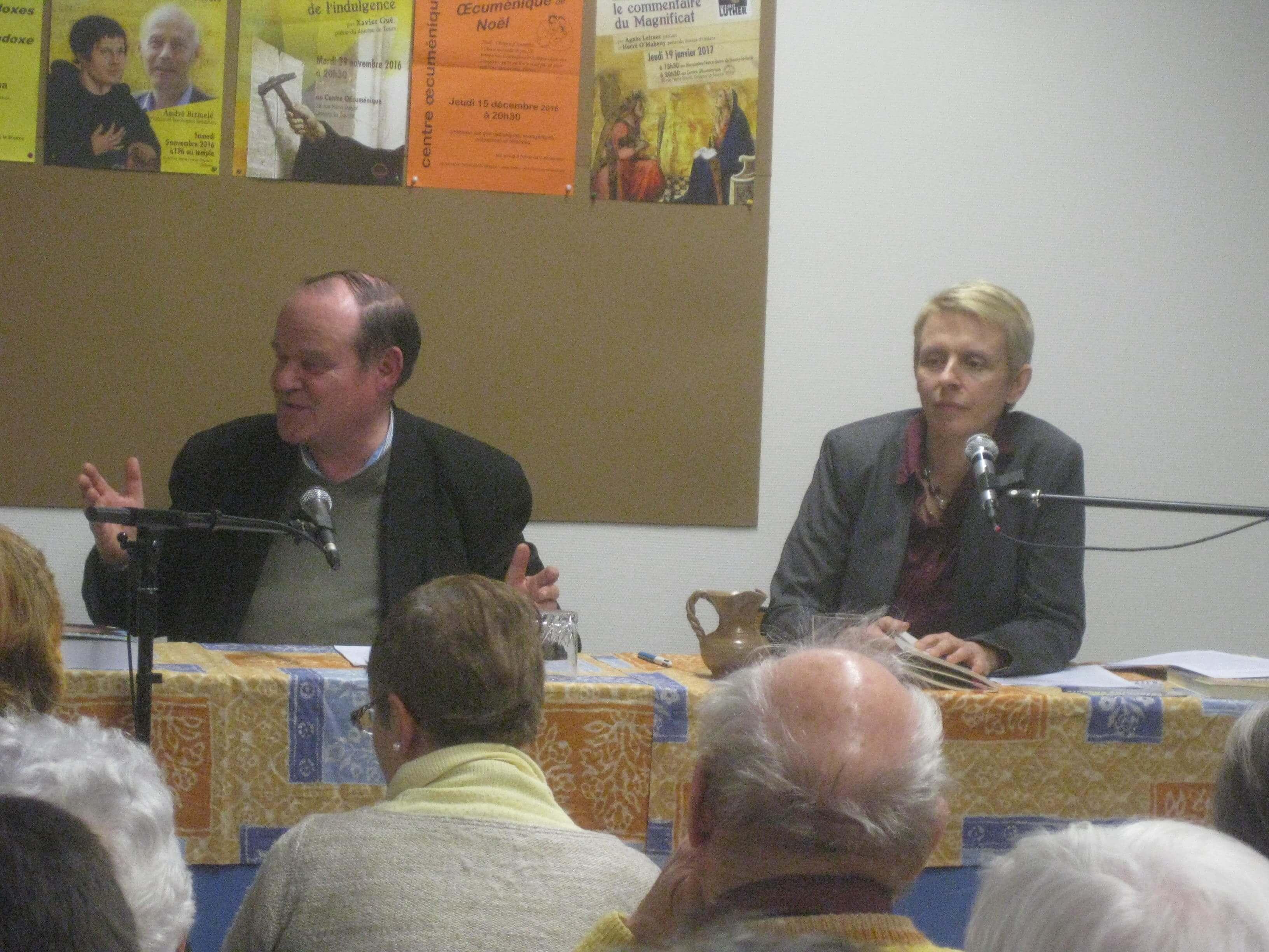 Hervé O'Mahony et Agnès Lefranc le 19/01/17